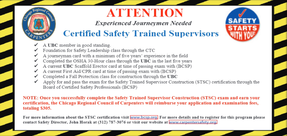 Experienced Journeyman Needed, Certified Safety Trained Supervisors
